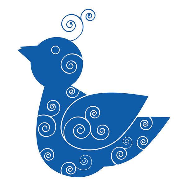 Ornithologist Wall Art - Painting - Blue Bird by Frank Tschakert