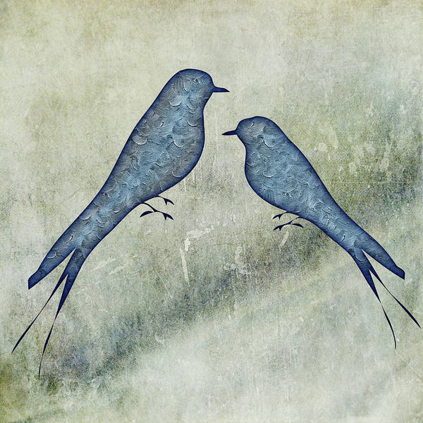 Painting - Blue Birds 5  by Movie Poster Prints