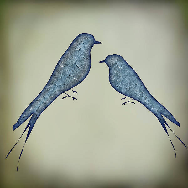 Painting - Blue Birds 6 by Movie Poster Prints