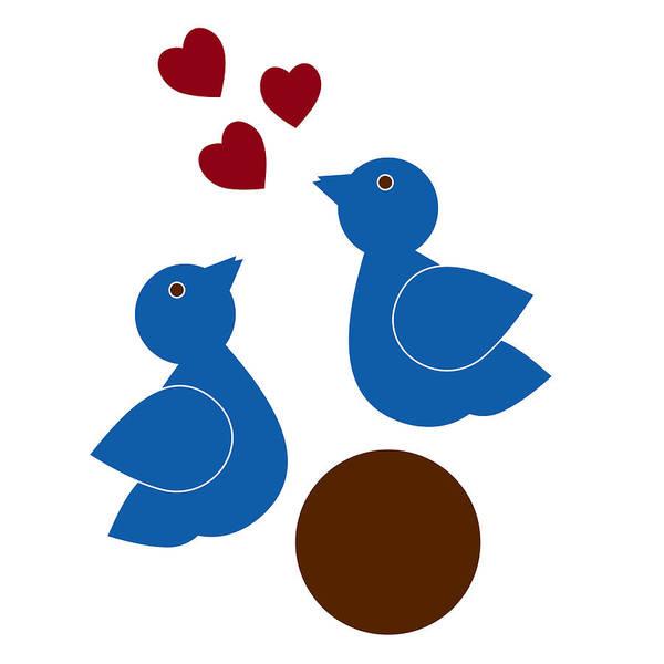 Wall Art - Painting - Blue Birds by Frank Tschakert