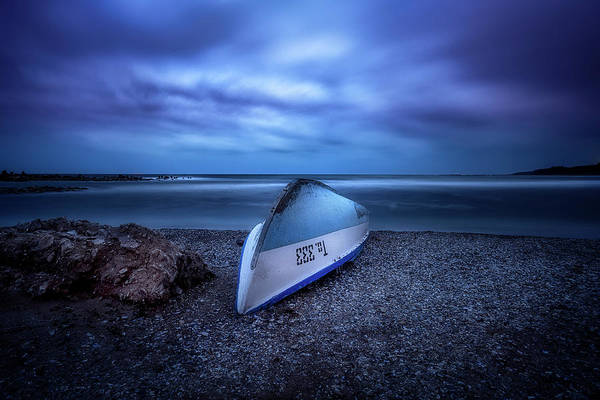 Wall Art - Photograph - Blue Boat by Adrian Malanca