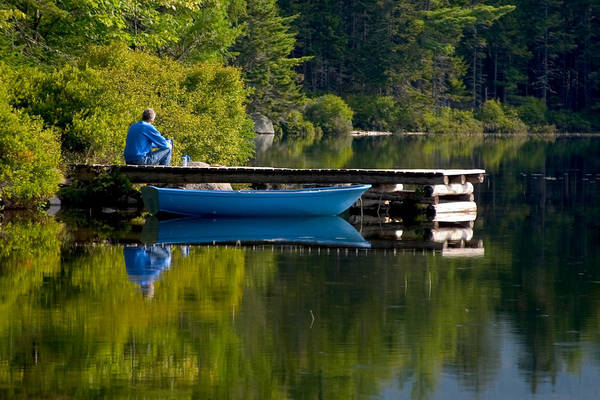 Wall Art - Photograph - Blue Boat by Brent L Ander