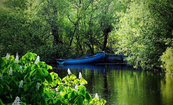 Wall Art - Photograph - Blue Boat Cong Ireland by Teresa Mucha