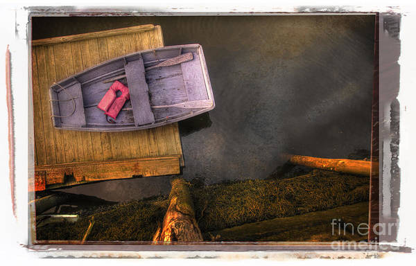 Photograph - Blue Boat Dingy by Craig J Satterlee