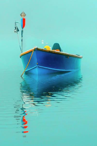 Wall Art - Photograph - Blue Boat Reflections by Dapixara Art