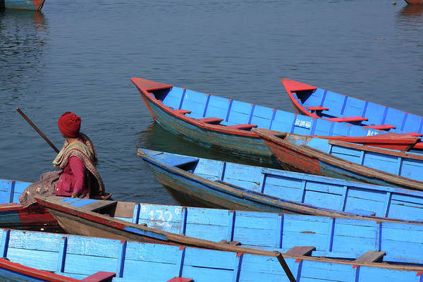 Photograph - Blue Rowing Boats by Aidan Moran