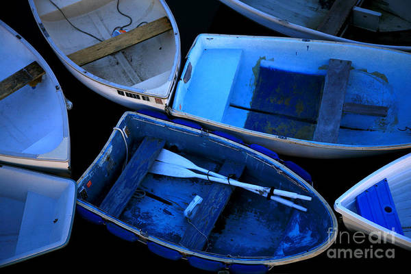 Photograph - Blue Boats by Timothy Johnson