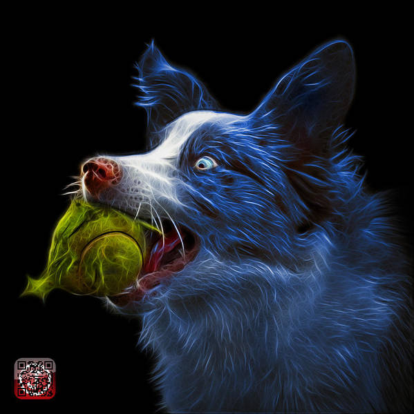 Painting - Blue Border Collie -  Elska - 9847 - Bb by James Ahn