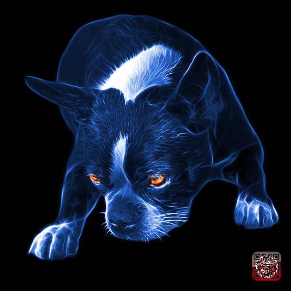 Mixed Media - Blue Boston Terrier Art - 8384 - Bb by James Ahn