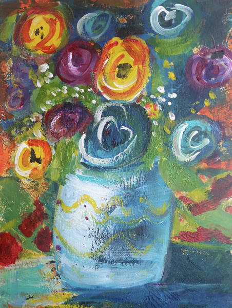 Painting - Blue Bouquet by Jenny Mead