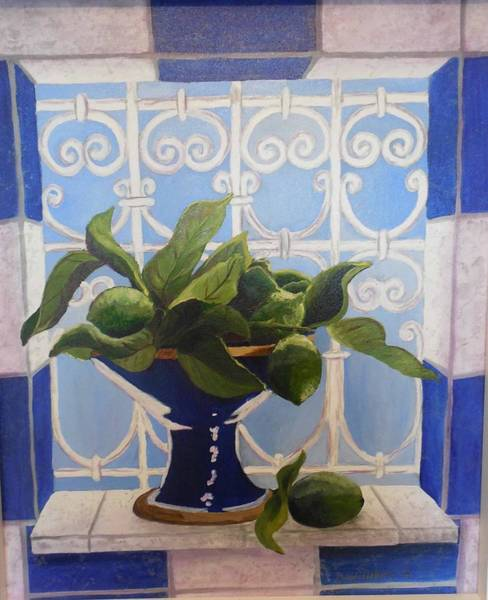 Don Williams Painting - Blue Bowl by Don Williams