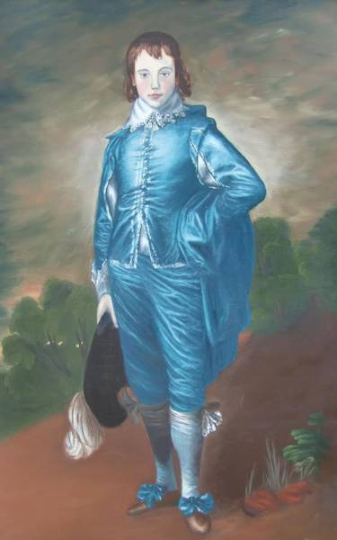 Painting - Blue Boy Nr. Seven by Philipp Merillat