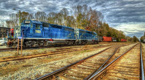 Norfolk Southern Wall Art - Photograph - Blue Boys Madison Georgia Side Tracks Art by Reid Callaway