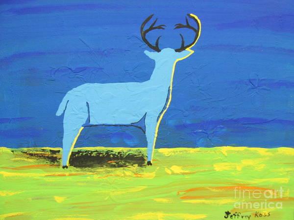 Black Buck Painting -  Blue Buck by Jeffrey Koss