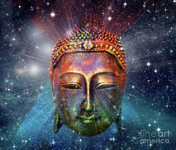 Buddhism Digital Art - Blue Buddha by Mark Ashkenazi