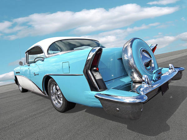 Photograph - Blue Buick Special 1956 by Gill Billington