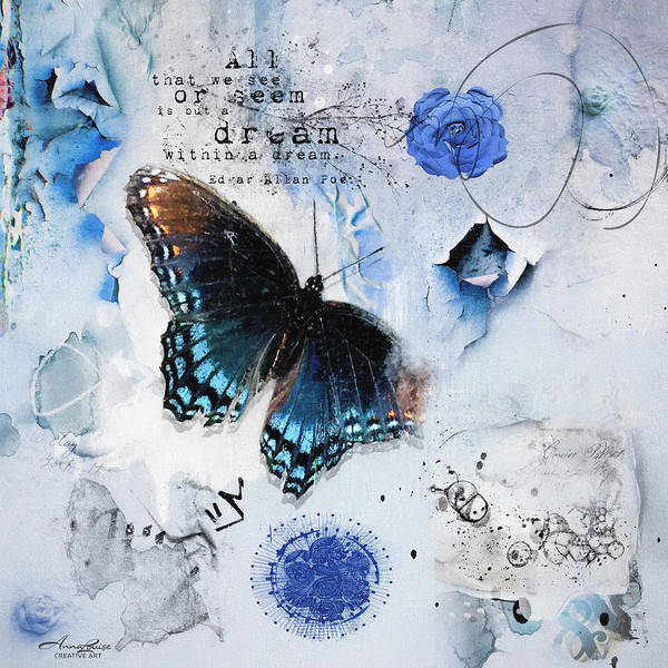 Photograph - Blue Butterfly Dream by Anna Louise