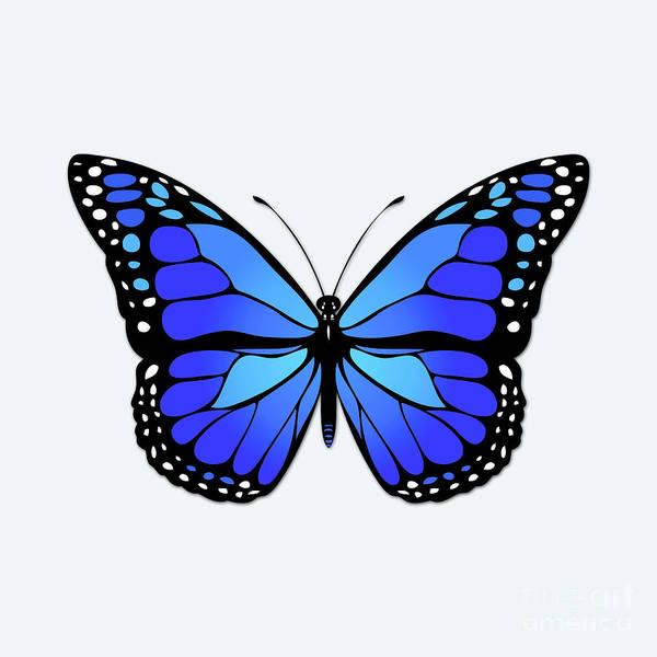 Wall Art - Digital Art - Blue Butterfly by Gaspar Avila