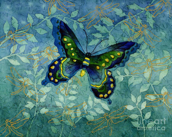 Transparent Wall Art - Painting - Blue Butterfly by Hailey E Herrera