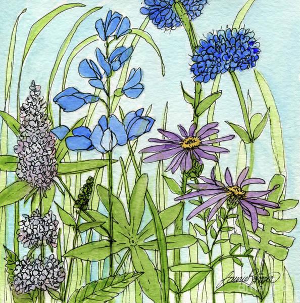 Blue Buttons Art Print