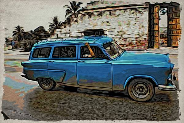 Photograph - Blue By Havana Wall by Alice Gipson