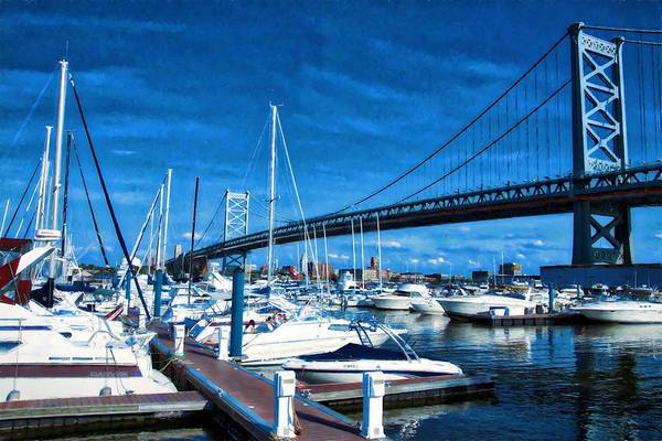 Photograph - Blue By The Bridge by Alice Gipson
