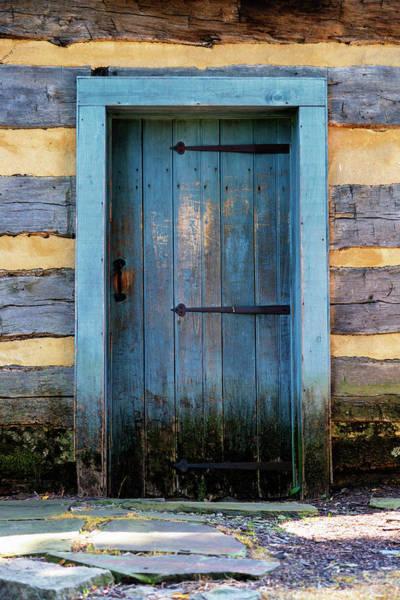 Wall Art - Photograph - Blue Cabin Door by Stephen Stookey