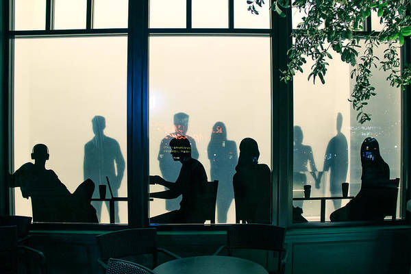 Cafe Photograph - Blue Cafe by Bobby Villapando