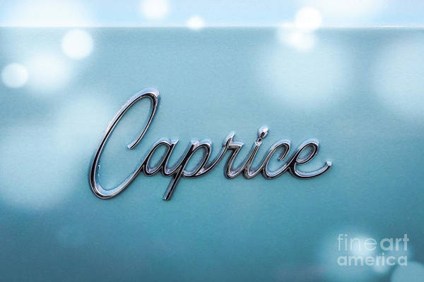 Wall Art - Photograph - Blue Caprice Chevrolet by Colleen Kammerer