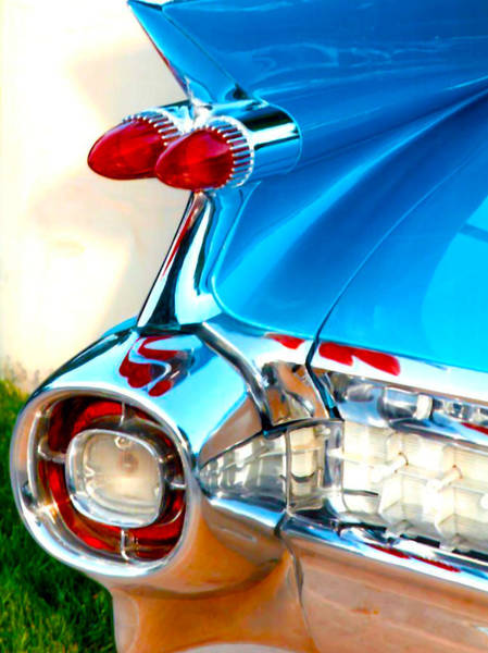 Awesome Show Digital Art - Blue Car Red Lights by Brian Kemper