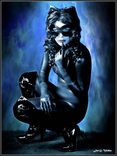 Photograph - Blue Cat by Jon Volden