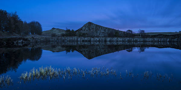 Northumbria Photograph - Blue Cawfields by David Taylor