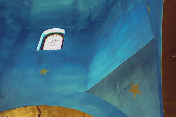 Photograph - Blue Ceiling by Dubi Roman