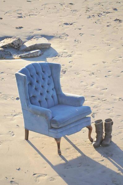 Photograph - Blue Chair by Bridgette Gomes