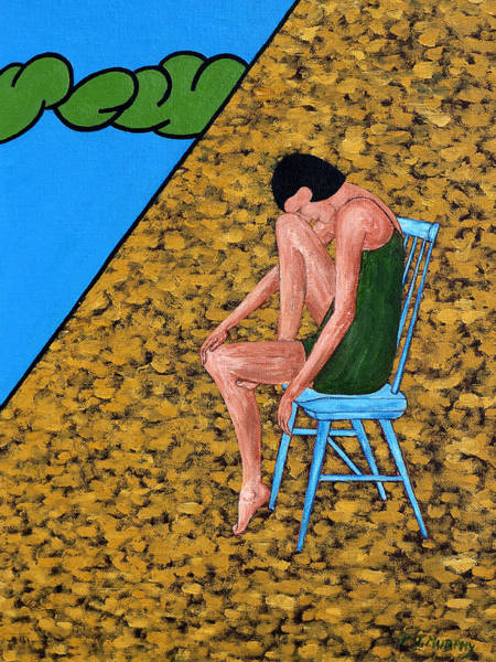 Comtemporary Wall Art - Painting - Blue Chair by Patrick J Murphy