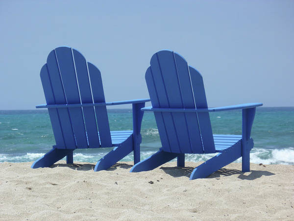 Photograph - Blue Chairs by Frank DiMarco
