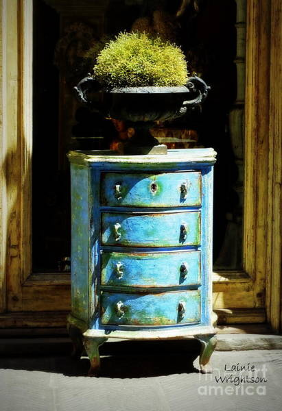 Chest Of Drawers Photograph - Blue Chest Of Drawers by Lainie Wrightson