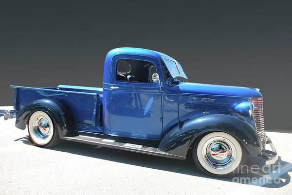 Photograph - Blue Chev Truck by Bill Thomson