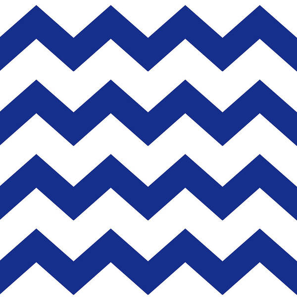 Mixed Media - Blue Chevron Pattern by Christina Rollo