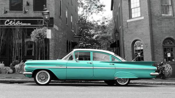 Wall Art - Photograph - Blue Chevy Bel Air by Edward Fielding