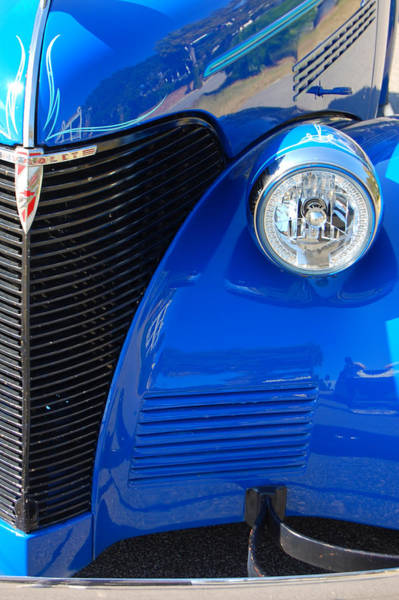 Photograph - Blue Chevy by Donna Bentley