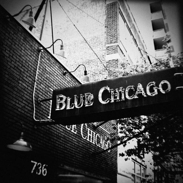 Art Print featuring the photograph Blue Chicago Nightclub by Kyle Hanson