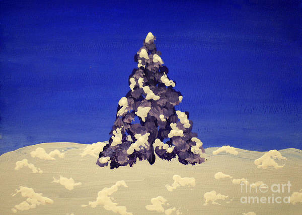 Painting - Blue Christmas by Joseph A Langley
