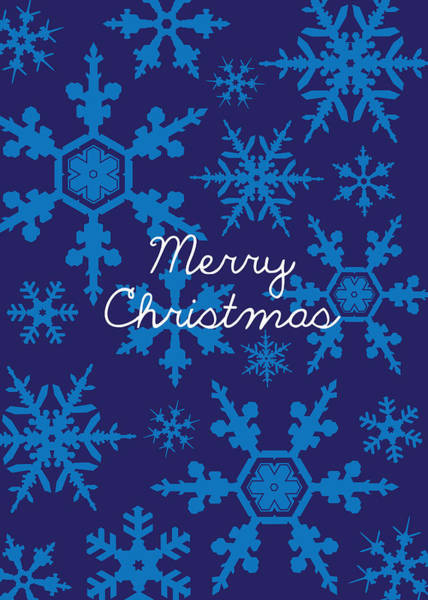 Christmas Digital Art - Blue Christmas Snowflakes by Kathleen Wong