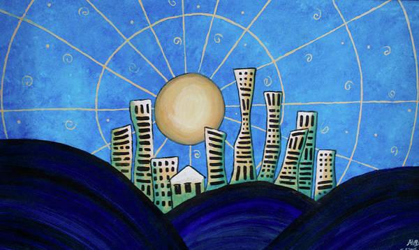 Painting - Blue City  by April Burton