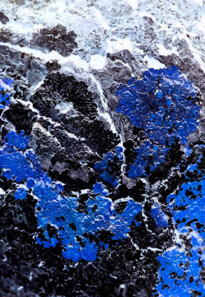 Rock Texture Painting - Blue Cliff by Edouard Coleman
