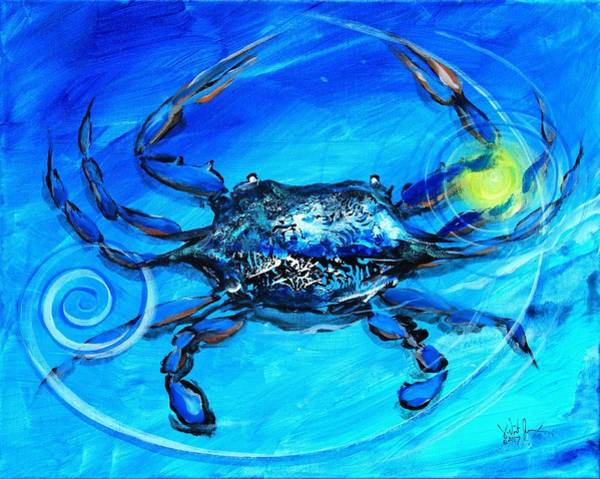 Painting - Blue Crab, Abstract by J Vincent Scarpace