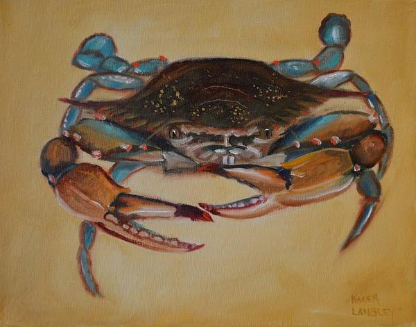 Blue Crab I Art Print