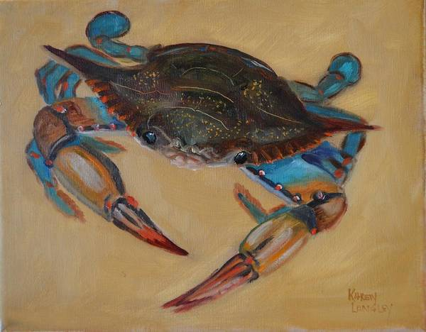 Blue Crab II Art Print