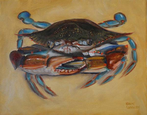 Blue Crab IIi Art Print